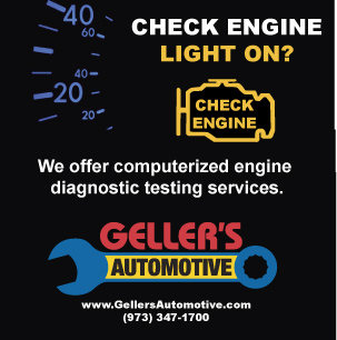 For Check Engine light or Service Engine Soon light issues, take your car to Geller's Automotive in Byram, NJ.