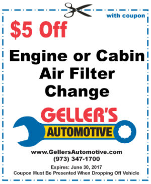 $5 Off Cabin or Engine Air Filter Change