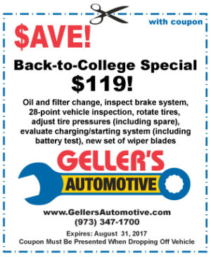 Back-to-College Car Care Special, $119!