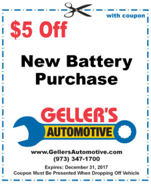 $5 Off New Battery Purchase