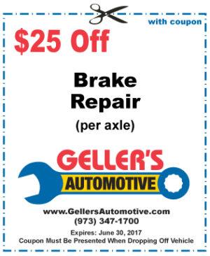 $25 Off Brake Repair (per axle)