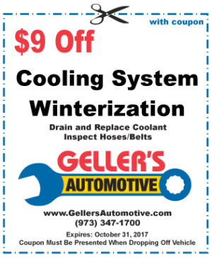 $9 Off Cooling System Winterization