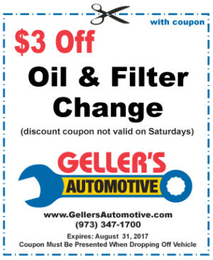 $3 Off Oil & Filter Change (excluding Saturdays)