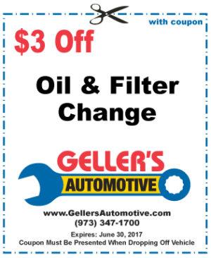 $3 Off Oil & Filter Change